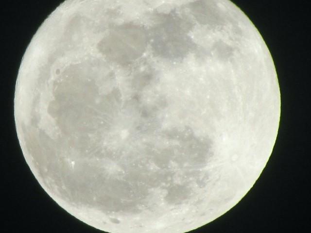 Full moon, from my front porch (Richmond, VA), February 25, 2013