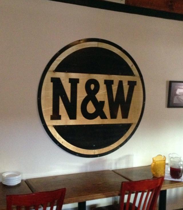 Old Norfolk & Western sign