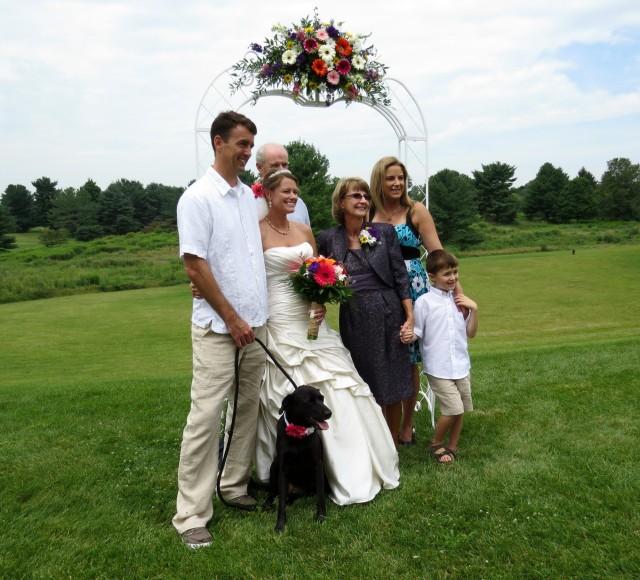 Shane, Kristin, and Kristin's family