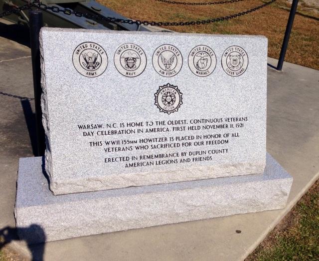 Oldest Veteran's Day Celebration site