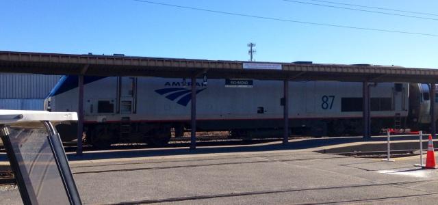 Amtrak locomotive #87, a P42DC