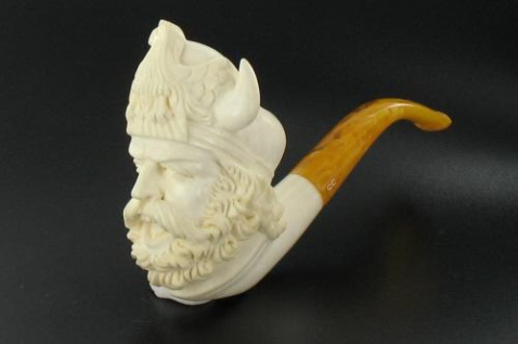 A meerschaum pipe.
