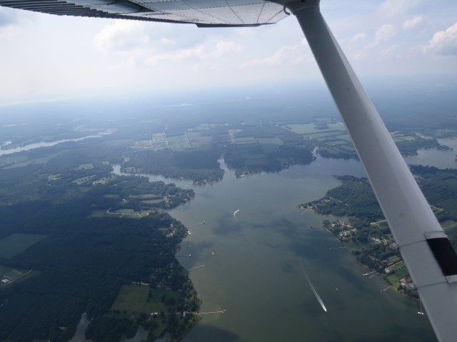 My second view of the James River today: