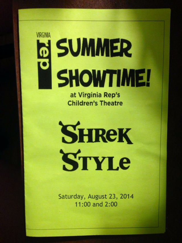 Shrek flesh tone colored program: