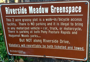Riverside Meadow Greenspace - I like all three of those words.