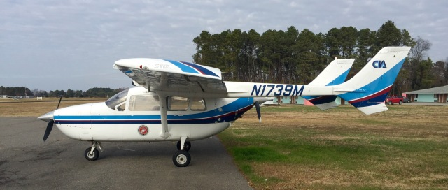 A 1970 Cessna 337F Super Skymaster. With a push prop and a pull prop! And two engines!