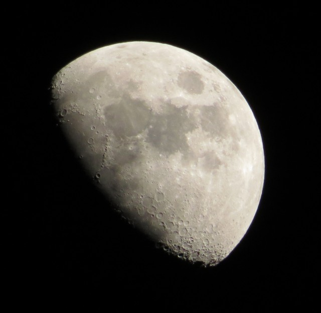 Moon against a black sky
