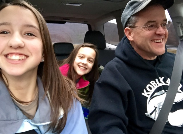 Happy carload on the way to the Maple Festival!