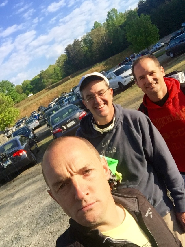 Andrew, then me, then Jeff - pre-race