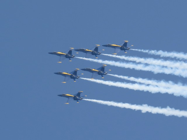 The Blue Angels today at Ocean City, MD