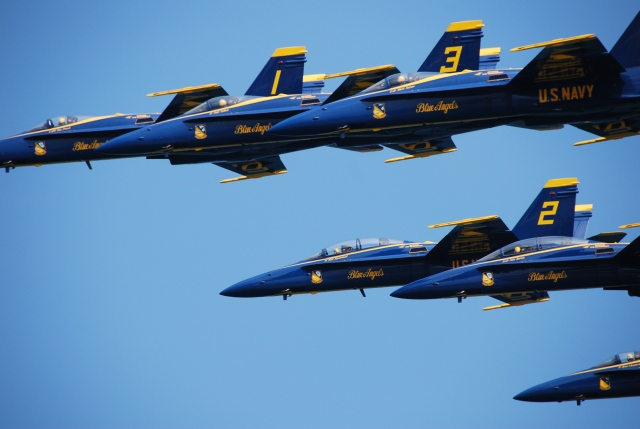 Pat's excellent picture of the Blue Angels yesterday: