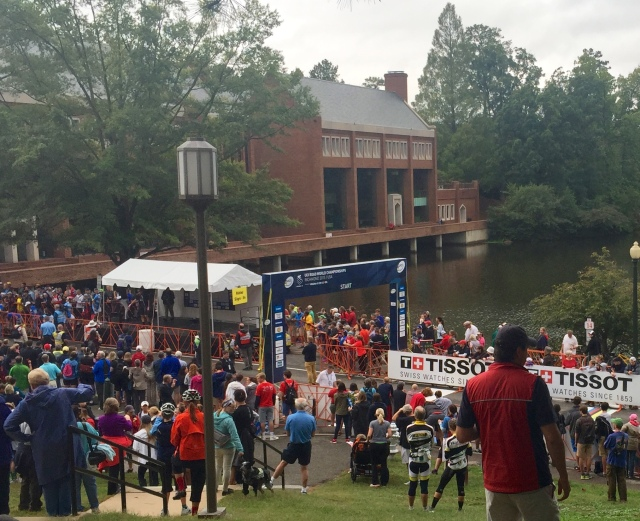 University of Richmond, a few minutes before the start of the Men's Elite Road Circuit this morning