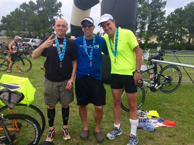 Andrew, Travis and me after finishing our race Saturday