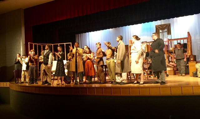 "Cast of ""Diary of Anne Frank"" at Goochland HS, 7 November, 2015"