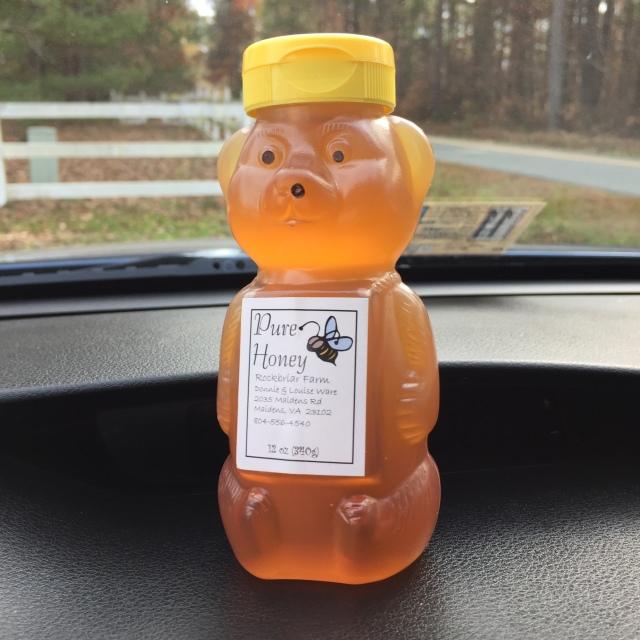 We ALWAYS love a fresh bottle of honey