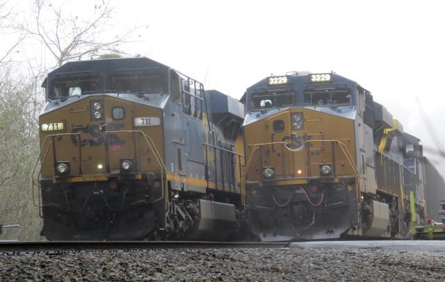 The front end of tens of thousands of tons of coal. On a foggy December afternoon.