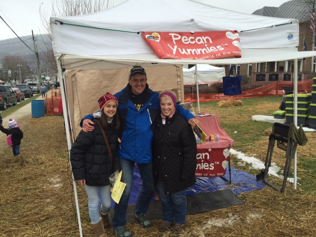 Me, Wren, and the Yum Master, photo credit to the Yum Monster. Highland Maple Festival, 2016
