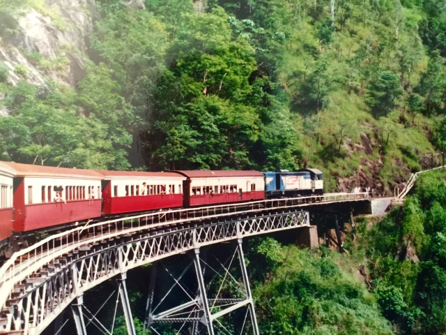 I photograph trains in America. I photographed trains in Australia.