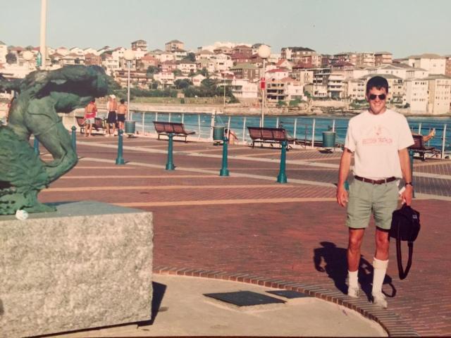 Sunny Sydney, 1991 (wearing my triathlon t-shirt)