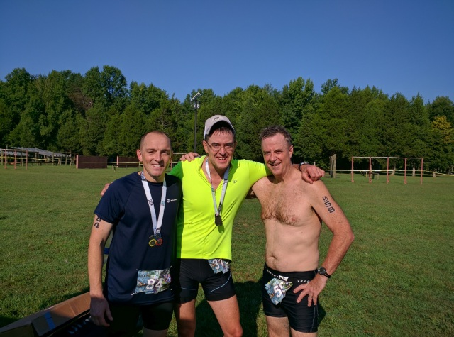 Andrew, me, Pat - happy finishers. Thanks for taking the picture Megan!