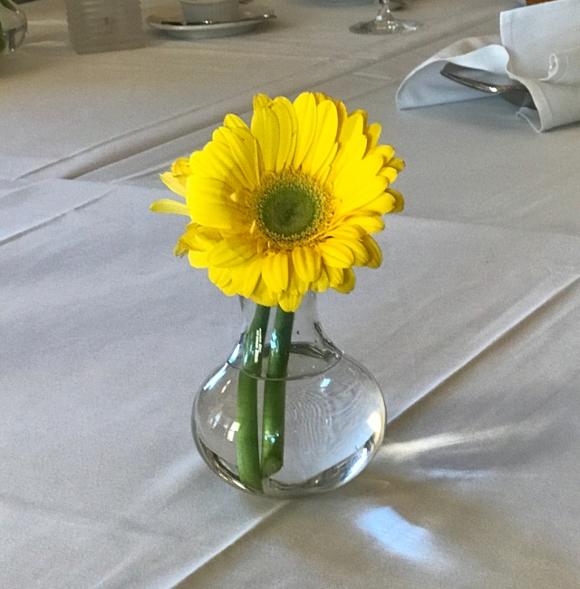 My mom's favorite color - birthday dinner table decoration - my sister Sheila's attention to detail