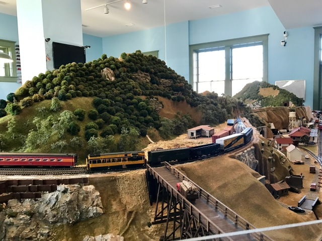 Small segment of the train layout inside the Richmond Railroad Museum