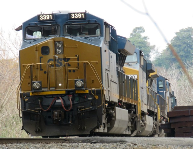 The first of five 4,400 HP CSX locomotives